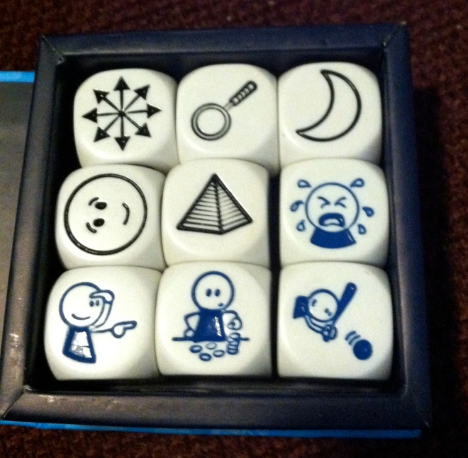 compass, magnifying glass, crescent moon, smiley face, pyramid, crying, looking, counting, hitting a ball