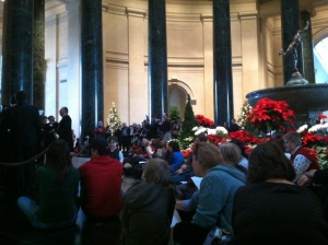 Xaverian HS choir from Brooklyn, N.Y., performing at the National Gallery.